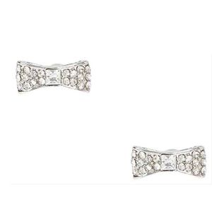 ♠️ Kate Spade Silver Pave Bow Earrings NWT